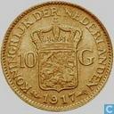 Niederlande 10 Gulden 1917