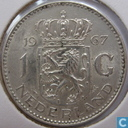 Coins - the Netherlands - Netherlands 1 gulden 1967 (silver)