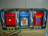 3 Theeblikjes (Postbox, Guard and Telephonecell)