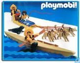 Eskimos, traîneau à chiens et kayak