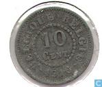 Munten - België - België 10 centimen 1916 (FR-VL) (Punt voor en na jaartal)
