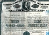 National Railways of Mexico, Certificate for 10 shares, Second preferred stock