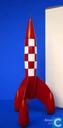 Fusée Tintin lunaire - fusée de Tintin 23 cm