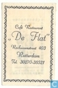 Caf Restaurant &quot;De Flat&quot;