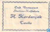 Caf Restaurant Stations Koffiehuis H. Korderijnk
