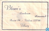 Blom's Lunchroom