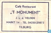 Caf Restaurant &quot; 't Monument&quot;