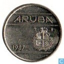 Aruba 25 cents 1987