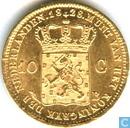 Pays-Bas 10 gulden 1828 (B)