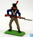 Soldier, rifle with bayonet at the ready