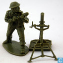 British mortar gunner