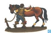 Meist Kostbarer Artikel - Stalknecht legt paard