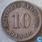 German Empire 10 pfennig 1893 A