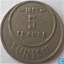 Coins - Tunisia - Tunisia 5 Francs 1957