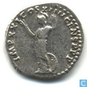 Roman Empire by Emperor Domitian Denarius 89 AD.