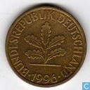 Germany 10 pfennig 1996 J