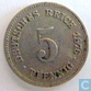 German Empire 5 pfennig 1876 F