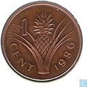 Swaziland 1 cent 1986 (brons)
