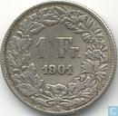 Switzerland 1 franc 1901