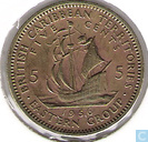 Coins - British Caribbean Territories - British Caribbean Territories 5 cents 1956