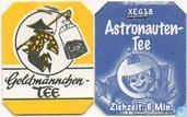 Tea bag label - Goldmännchen Tee - 12 Astronautentee