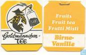 Tea bag label - Goldmännchen Tee -  3 Birne Vanille