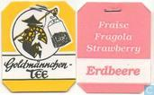 Tea bag label - Goldmännchen Tee -  2 Erdbeer-Sahne