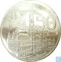 "Coins - Belgium - Belgium 50 francs 1958 (VL) ""Brussels World Fair"""