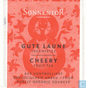 Tea bag label - Sonnentor -  8 Gute Laune  Früchtetee | Cheery Fruit Tea