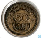 Coins - France - France 50 centimes 1933 (open 9)