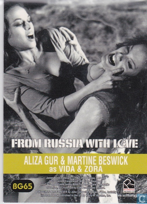 Aliza Gur Martine Beswick Gypsy http://www.catawiki.com/catalog/trading-cards/editions-sets/james-bond-in-motion/1524617-aliza-gur-martine-beswick-as-vida-zora