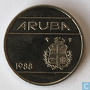 Aruba 25 cents 1988