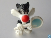 Sylvester Junior with magnifier