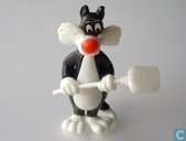 Sylvester with shovel