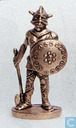 Viking with axe and shield (brass)