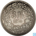Switzerland 5 Franc 1874B