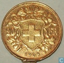 Switzerland 20 francs 1908