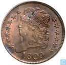 Coins - United States - United States 1/2 cent 1809