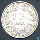 Switzerland 1 Franc 1908