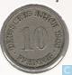 German Empire 10 pfennig 1900 F