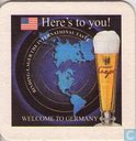Beermat - Germany - .Here's to you! / Binding Lager