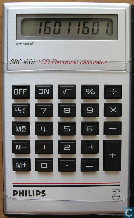 philips sbc 1601 lcd electronic calculator philips catawiki. Black Bedroom Furniture Sets. Home Design Ideas