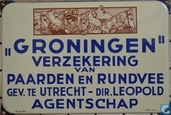 Enamel signs - Langcat Bussum - GRONINGEN verzekering van Paarden en Rundvee