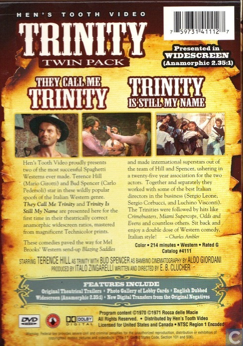 they call me trinity trinity is still my name dvd