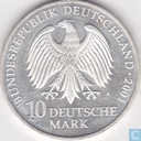 "Germany 10 mark 2001 A ""Stralsund - 750 years Katharinenkloster - 50 years naval museum"""