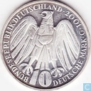 "Germany 10 mark 2001 G ""50 years Federal Court of Constitution"""