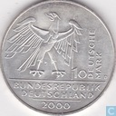 "Germany 10 mark 2000 D ""10th Anniversary of the German Reunification"""