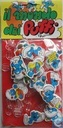 Set Smurfs foam figures purposely holder