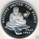 "Afghanistan 500 Afghanis 1995 (PROOF) ""50th Anniversary United Nations"""