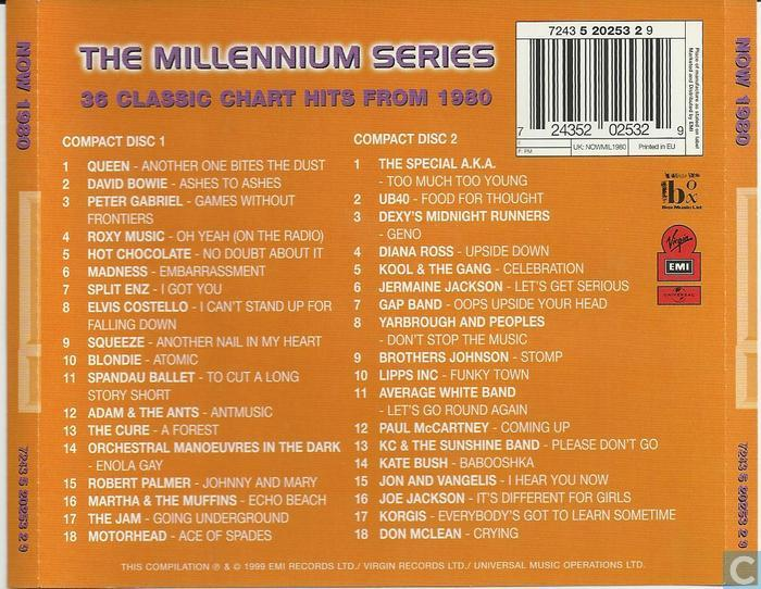 Now That S What I Call Music 1980 Millennium Edition